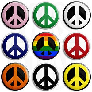 CND Logo - Peace Sign - 25mm Love Symbol Button Badge with Fridge Magnet Option