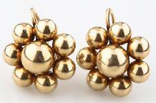 Tiffany & Co.Vintage 14k Oro Giallo Orecchini a Fiore W/ Screwbacks e Scatola