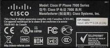Cisco CP-7940G SIP Firmware Loaded - Option for SCCP Firmware 6 Month Warranty