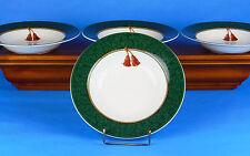 Set of 2 Soup Bowls, MINT-NEAR MINT! Holiday Abundance Green, Sakura, Hallmark
