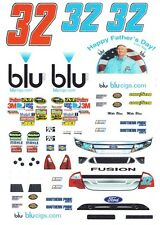#32 Mike Bliss blu 2011 1/32nd Scale Slot Car Waterslide Decals