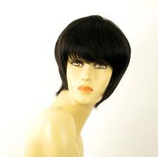 perruque femme 100% cheveux naturel courte noir ref CLOE 1b