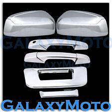 07-13 Chevy Silverado Chrome Top Mirror+2 Door Handle+Tailgate no Keyhole Cover