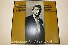 """Robert Schumann The Four Symphonies Leonard Bernstein New York  3LPs (VG) 12"""""""