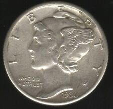 More details for 1938 u.s.a. mercury silver dime | world coins | pennies2pounds