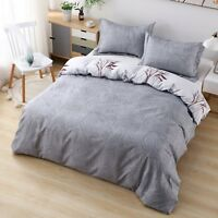 Duvet Cover Set Printed 3 Piece Reversible 2 Pillow Shams With Zipper Closure DL