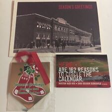 2008 Boston Red Sox Season Ticket Holder Team Issued Christmas Card & Ornament