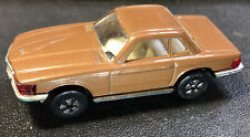 PLAYART MERCEDES BENZ 350SL Brown VINTAGE Diecast Toy Car HTF