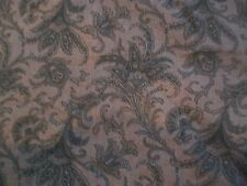 "Blue Paisley Cotton Fabric Remnant 17"" x 26"""