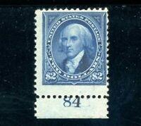 USAstamps Unused FVF US 1894 $2 Bureau Issue Plate Single Scott 262 OG MLH