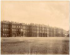 Russie, Saint-Pétersbourg, place du palais   Vintage albumen print Tirage al