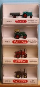 Wiking 095102, -03, -38, 095304 - Spur N -, Traktorenpaket, 4-teilig, 50er Jahre