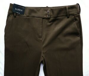 BNWT NEXT Premium brown relaxed slouch leg office smart work trousers 16 18 R