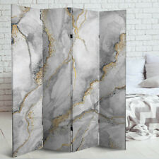 FOLDING DIVIDER WALL PARTITION PRIVACY SCREEN SPERATOR PARAVENT gold marble
