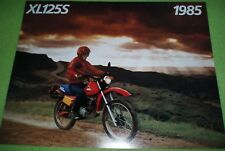 1985 Genuine Honda XL125S XL125 Street & Dirt OEM Sales Brochure MINT CONDITION!