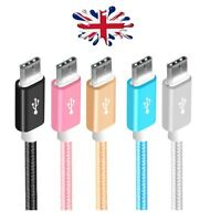 1m 2m 3m USB TYPE C CABLE 3.1 CHARGING DATA SYNC BRAIDED for MOBILES TABLETS ETC