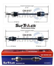 For Geo Metro 89-94 FWD Pair of Front CV Axle Shafts SurTrack Set Std.Transm.