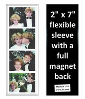 100 Magnetic Photo Booth Frames 2x7 Full Magnet Back, white/black free shipping