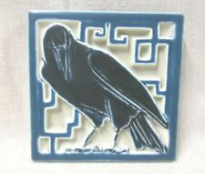 ROOKWOOD TRIVET WITH RAVEN (ROOK) DATED 1928