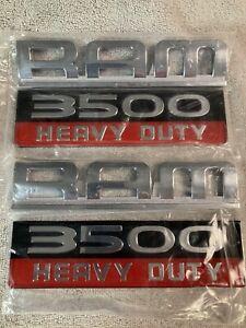 Fits 2007-2012 Dodge Ram 3500 Heavy Duty Emblem Decal Nameplate X2