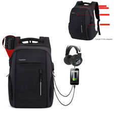 "17.3"" Waterproof Laptop Backpack Computer Anti-thieft Bag With USB Charge Port"