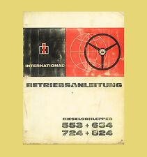 IHC International 553 654 724 824  Schlepper  Betriebsanleitung Original 1972