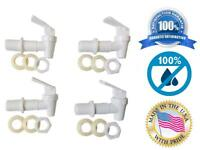 BPA Free Replacement Cooler Faucet Water Jug Ceramic Crock Spigot Spout - White
