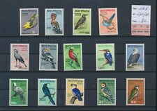 LM12908 Botswana 1967 birds animals fine lot MNH cv 90 EUR