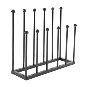 Black Iron Rack 4/6 Pairs Shoes Boots Boot Holder Stand Storage Indoor Outdoor