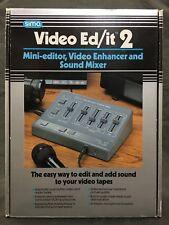 Vintage NOS Sima Video Ed/it 2 Mini Editor, Video Enhancer & Sound Mixer - SED-2