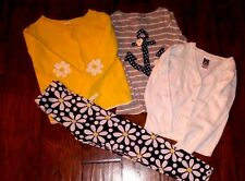 Gymboree Girls Yellow and Navy Sweaters and Leggings Size 10/12 Lot of 4