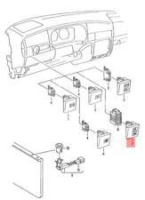 Genuine Volkswagen Control Lamp Airbag Abs System Safety Belt NOS 1H2919235P