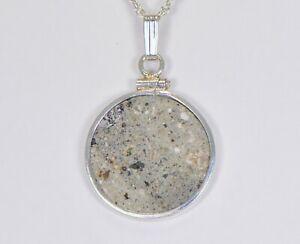Beautiful Howardite HED Meteorite Pendant - Sterling Silver - Meteorite Jewelry