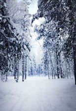 Photography Backdrop Winter Snow forest Studio Photo Background Prop Vinyl 5x7FT
