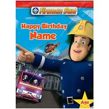 - FIREMAN SAM - IDEAL FOR SON NEPHEW PERSONALISED CHILDREN'S BIRTHDAY CARD