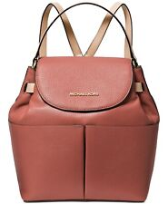 Michael Kors Women's Bedford Large Convertible Sunset Peach Coral/Gold Backpack