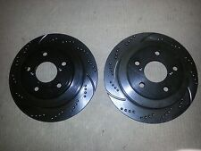 31043DS (REAR 2pcs) Performance Sport Dimpled Slotted Brake Disc Rotor
