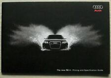 AUDI RS4 Car Pricing & Specification Guide Sales Brochure Feb 2006 Edition 2