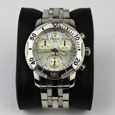 Tissot PRS 200 Chronograph White Face Silver Bracelet With Box