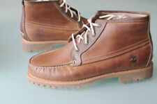 NEW Timberland Men 9.5 WIDE AUTHENTICS Chukka  Brown Leather Lace Boots SHOES