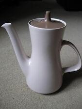 Poole Pottery Twintone Sepia Mushroom Coffee Pot - C54
