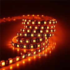 16.4FT Orange LED Light 5050 LED Strip 5M 300 SMD Waterproof 12V DC Black PCB