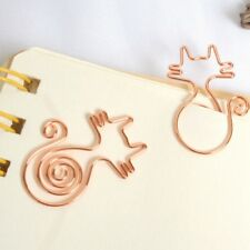 8pcs Lovely Cat Metal Bookmark Planner Paper Clip for Book Stationery School SJ