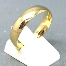 """AWESOME 9CT YELLOW GOLD PLAIN """"WEDDING BAND"""" DRESS RING    SIZE """"R""""   1547"""