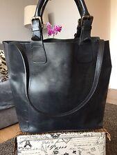 Next Black Leather Tote Bucket Handbag, Shoulder Bag