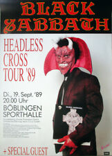 BLACK SABBATH - 1989 - Plakat - Headless Cross - Tourposter - Böblingen
