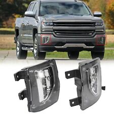 2016-2018 Chevy Silverado 1500 Bright LED Fog Lights Driving Bumper Lamps+Switch