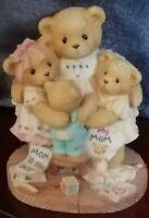 Cherished Teddies: Katie, Renee, Jessica & Matthew. Mother, Mom Hugs Bear Figure