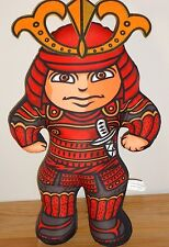 "Charlie Zabarte SAMURAI WARRIOR 15"" plush doll red/black by Linda McDonald"