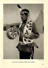 """""""agua clara"""" un indio del ottwa-raíz michigan Winnebago Papoose Baby 1935"""